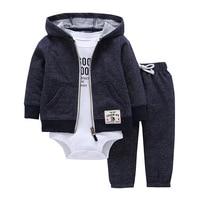 Baby Favorite Newborn Girls Boys Clothes Sets Carter Design 3 Pcs Lot Cotton Soft Velvet Spring