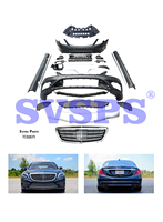 Black Pearl High Quality Body Kit For Mercedes Benz S Class W222 Grille Front Rear Bumper Exhaust Pipes 2017 2018 Year