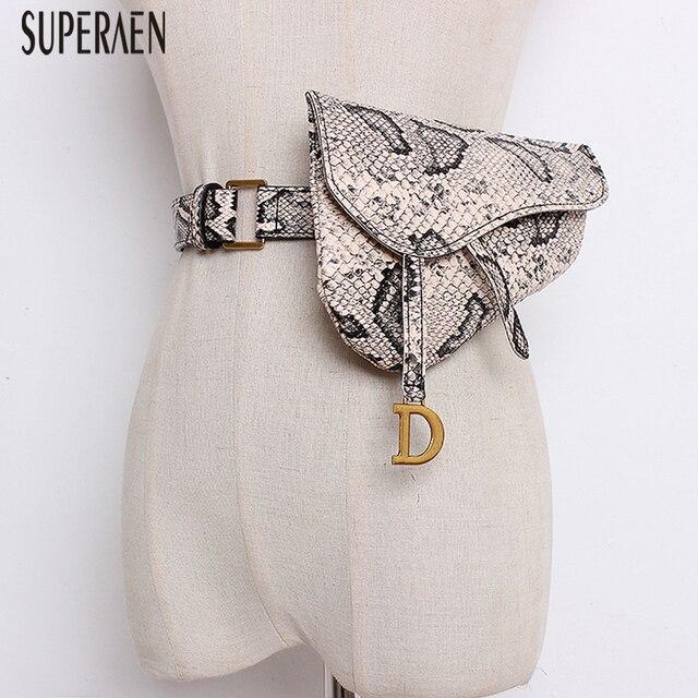 SuperAen 2019 New Korean Style Women Belt Fashion Wild Bage Belts for Women Print Casual Waist Belts Women