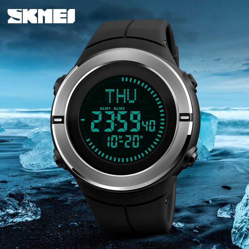 Fashion Sports Watches SKMEI Men Compass Waterproof Hiking Watch Countdown Chrono Alarm Digital Wristwatches Relogio Masculino skmei sports watches men outdoor shock chrono military watch dual time waterproof led digital wristwatches relogio masculino