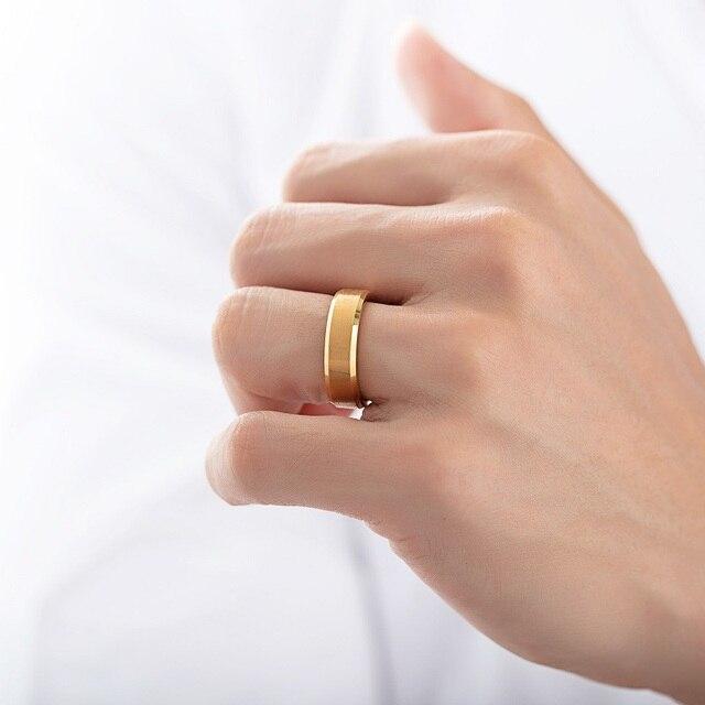 Купить модные кольца на палец из вольфрамовой стали черного золотого картинки