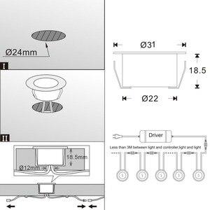Image 5 - 6 قطعة/الوحدة الذكية WIFI الهاتف APP ملون للتحكم/RGBW 31 مللي متر 12 فولت ip67 المطبخ درج خطوة LED سطح السفينة السكك الحديدية أضواء ل اليكسا صدى جوجل المنزل