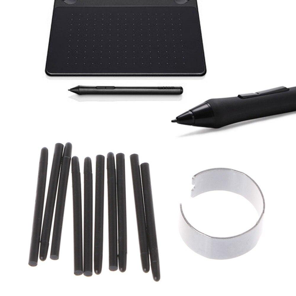 10 pces gráfico desenho almofada caneta padrão nibs stylus para wacom desenho caneta|Canetas|   -