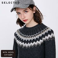SELECTED new female leisure damask rivet restoring ancient ways round collar sweater S | 418425507