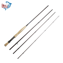 Rosewood 2017 New Travel Fly Fishing Rod 9FT 2.7M 4-Pieces 5/6 FishLine Carbon Fiber Fast Action Flyfishing Fly Rods