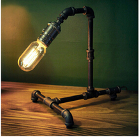 Industrial pipe LED lamps iron rust Water pipe lights  Loft style retro restaurant bar lighting industrial pipe series