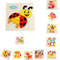 1Pc Baby Kid Cartoon Animals Puzzles Fish/Cat/Deer/Fox/Butterfly/Horse/Tortoise/Cattle Wooden Toy Early Learning Educational Toy