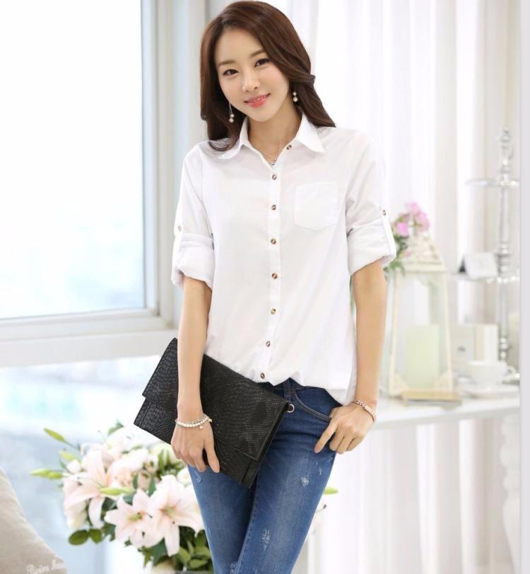 HTB1tSEnLXXXXXc8XVXXq6xXFXXXk - Casual Blouse Long Sleeve Femininas Ladies Work Wear Tops Shirt
