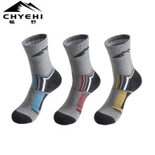 Men Sports Socks (3 Pairs/lot) CHYEHI W003 Cotton Quick Dry Outdoor Climbing Hiking