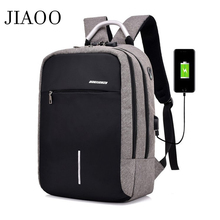 JIAOO waterproof men's 15.6 inch laptop backpack usb charging anti-theft backpack Casual sports backpack men bag mochilas hombre