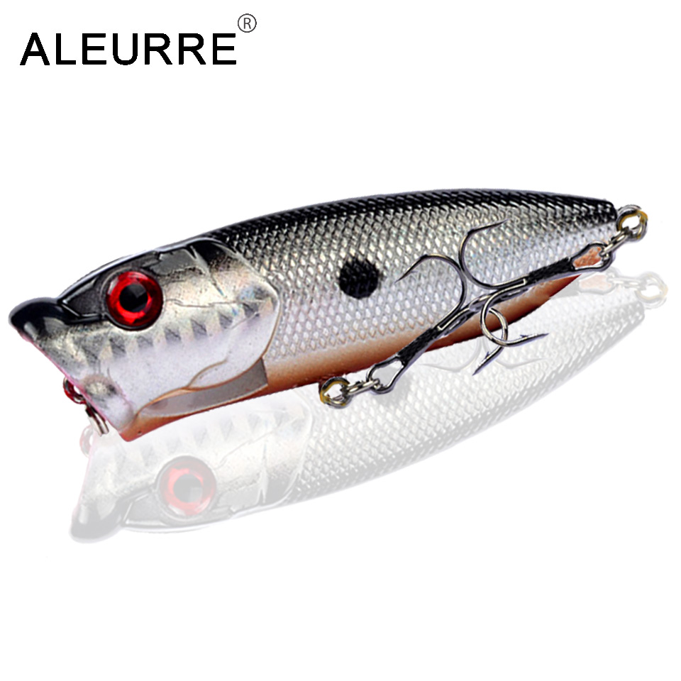Image 5 - 7cm/11g Topwater Bait Popper Lures vibrating Small Whopper Hard Isca Artificial Weever Wobbler 3D Eyes Fishing Lure Pesca-in Fishing Lures from Sports & Entertainment