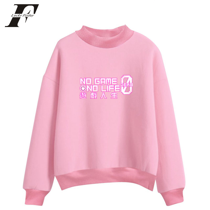 LUCKYFRIDAYF 2018 NO GAME NO LIFE plus size womens hoodies men hoodies pullover women hoodies jacket cute hoodies