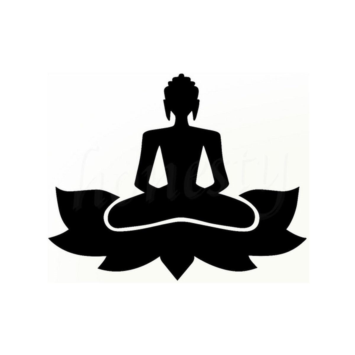 Buddha Zen Yoga Lustige Auto Lkw Fenster Bumper Wand Hause