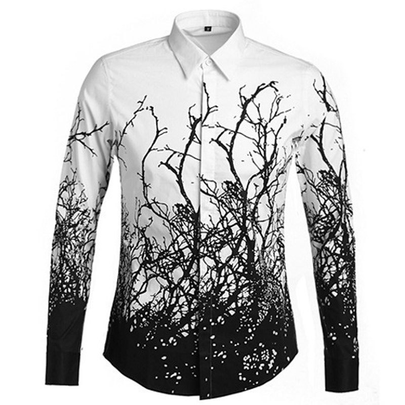 Online Shop Luxury Brand Men Shirt Chemise Homme 2016 Fashion ...