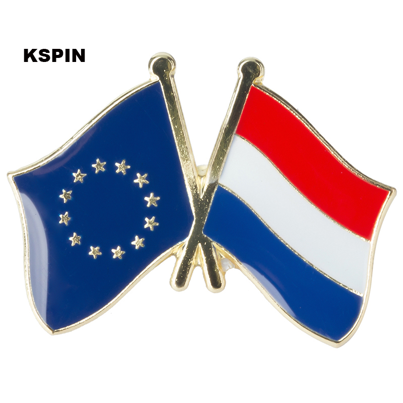 New Coming European Union Netherland Friendship Flag Badge Flag pin 300pcs a lot XY0074 5