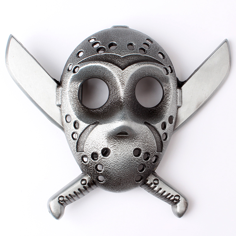Double Knife And Skull Buckle Buckle Suitable For The Belt Width Is 3.8 CM