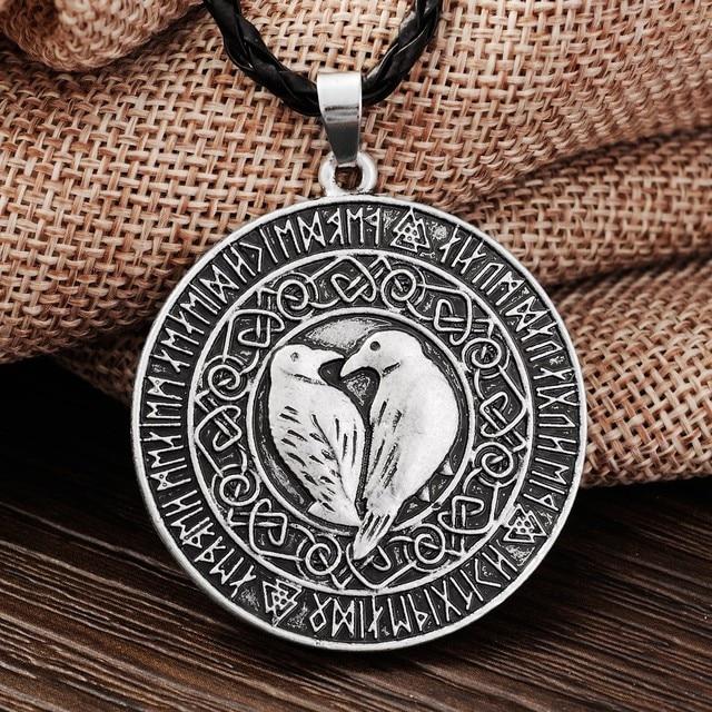 Langhong 1pcs norse vikings pendant necklace valknut raven rune langhong 1pcs norse vikings pendant necklace valknut raven rune pendant knot viking amulet pendant necklace nordic mozeypictures Choice Image