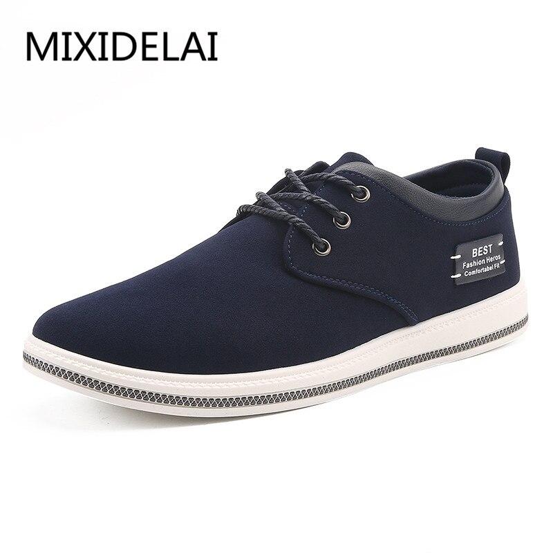 Brand Shoes Men Large Sizes 39-47 Mens Shoes Casual Lace Up Fashion flats Sneakers Men Black Men Shoes Leather Footwear