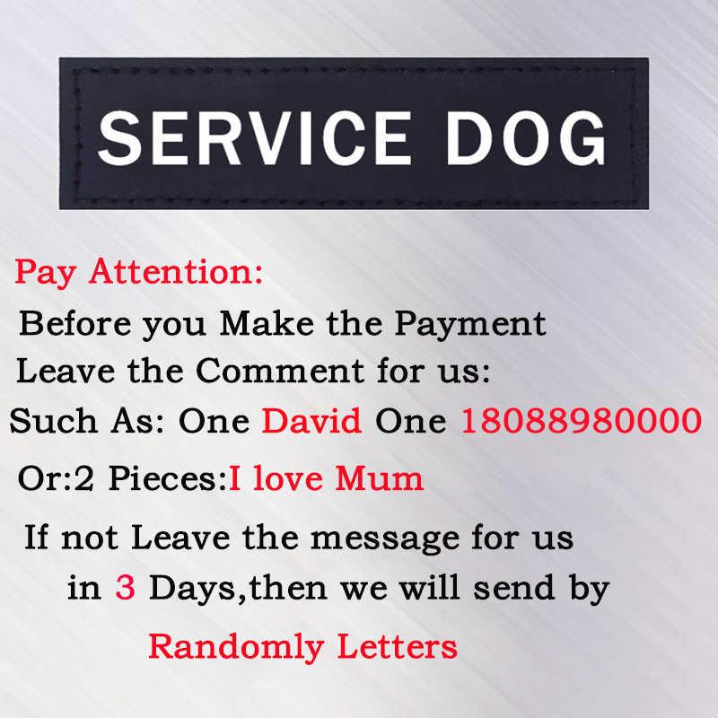 1 pares nombre de perro arnés Velcro 3*11 cm/5*16 cm DIY personalizado arnés para perros Accesorios