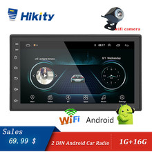 Hikity Android Auto lettore Multimediale di Navigazione GPS 2 din 7 pollici Auto Radio Bluetooth FM WIFI AUX auto radio di Sostegno wifi Della Macchina Fotografica