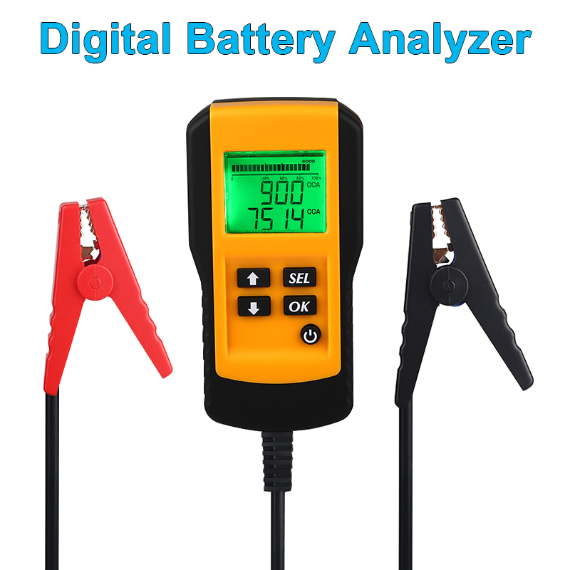 12V Digital <font><b>Battery</b></font> Analyzer Automotive <font><b>Battery</b></font> Condition Analyzer Voltage CCA Test Detector <font><b>Car</b></font> <font><b>Battery</b></font> <font><b>Diagnostic</b></font> <font><b>Tool</b></font> image
