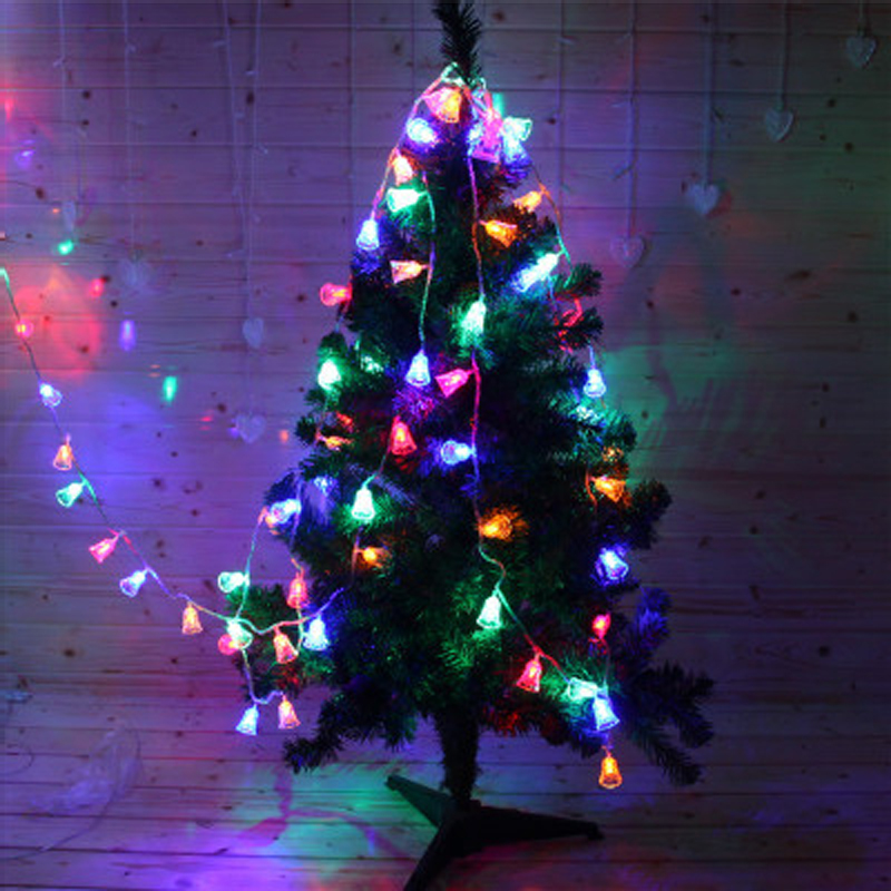 2017 New Year Christmas Bell String Light Lumiparty LED Outside Battery powered Lights For Christmas tree Party Decoration