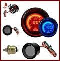 "2 ""52mm EVO LCD Digital Medidor de Presión de Aceite Con Sensor de Aceite Rojo/Azul Pantalla LED"