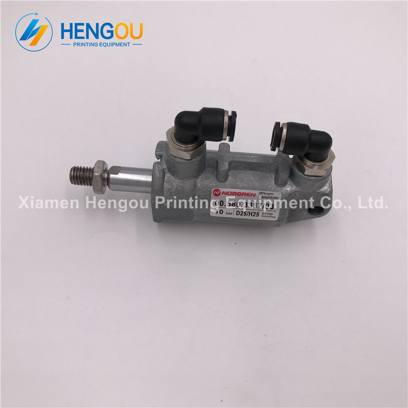 2 Pieces China post free shipping Heidelberg Air Cylinder 00.580.3387 for Heidelberg SM102 SM74 SM52 machine cylinder D25 H25 china post free shipping 1 piece heidelberg sm102 sensor 61 198 1563 06 61 198 1563