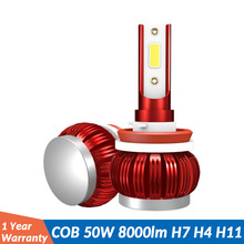 ASLENT H7 LED Light H1 H8 H11 HB3 9005 HB4 9006 H4 moto LED Bulbs Mini Car Headlight Fog Lamp 8000LM 50W Auto Headlamp 12V 24V cooleeon auto headlamp led light h1 h4 h7 car headlight bulbs h11 9005 9006 automotive led lamp kit 12v 24v 80w 9600lm cree leds