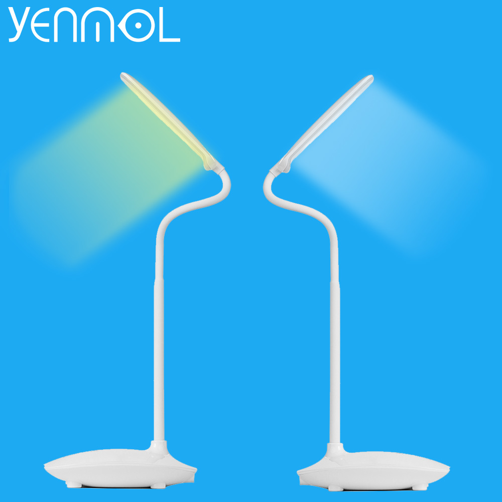 Yenmol LED Desk Lamp Dimmable Touch Switch Book Light USB Charging Reading Chargeable Desktops led Table
