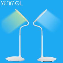 Yenmol LED Desk Lamp Dimmable Touch Switch Book Light USB Charging Reading Chargeable Desktops led Table Lamps Portable Folding