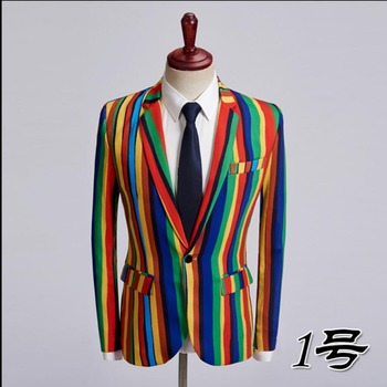 M-5xl Spring And Autumn Men New Printing Suit Jacket Single Western Blazers Hairstylist Nightclub Bar Coat Singer Stage Costumes