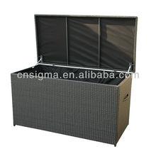 Всепогодная уличная мебель из ротанга поли ротанга ящик для хранения шкаф для хранения