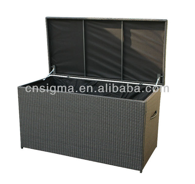 2017 All Weather Outdoor Furniture Rattan Poly Storage Box Cabinet