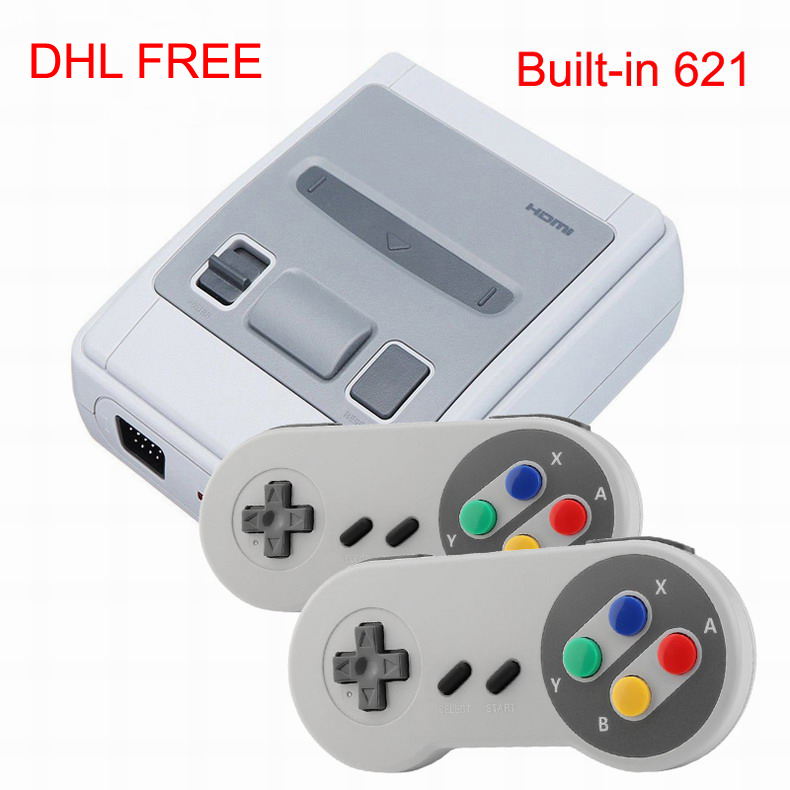 DHL 5-50PCS HDMI HD Handheld Gaming Player 8 bit Games Video Game Consoles Built-in 621 Games For Children Classic Retro games