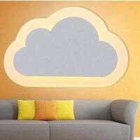 Wandleuchte Weiße wolken nacht weiß modernen minimalistischen kreative led schlafzimmer licht balkon treppen flur Wandleuchten ZA FG84