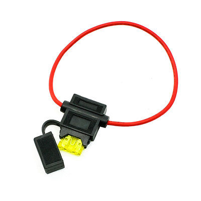 Waterproof in Line 14# AWG Blade Fuse Holder Kits 12V 20A for Cars Auto