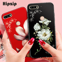 Fashion Bling Crystal Case For Huawei Honor 7A Pro DUA-L22 AUM-L29 7C AUM-L41 Y6 Y5 2018 Russia Version Cover Flower Protector(China)
