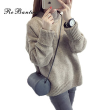 Rebantwa Thick Knitted Sweater Women Winter Warm Turtleneck Christmas Sweaters and Pullover Causal Jumper Long Sleeve Knitwear