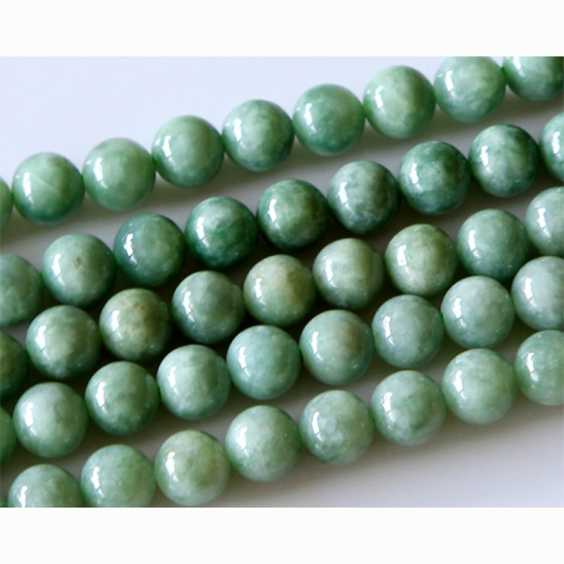 Wholesale Natural Genuine Green Jadeite Jade Round Loose Stone Beads 3-18mm Fit Jewelry DIY Necklaces or Bracelets 15 02870 100% natural green jadeite round circle pendant bring peace 1pcs
