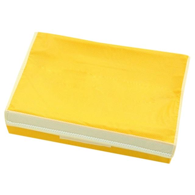 Exceptionnel Bra Underwear Storage Box Covered Storage Box Storage Box Plaid Socks  (Yellow 8 Grid)