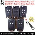 Бесплатная Доставка Замена Складные Дистанционного Ключа Shell Case Fob Для Buick Opel Для Chevrolet Chevy Cruze/Camaro/Impala/Malibu/Sonic