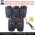 Free Shipping Replacement Folding Remote Key Shell Case Fob For Chevy Buick Opel For Chevrolet Cruze/Camaro/Impala/Malibu/Sonic