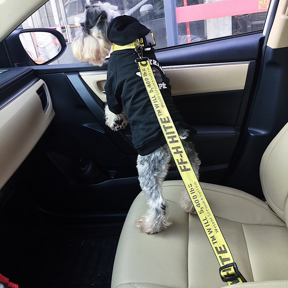 NEW Vehicle Car Pet Dog Seat Belt Puppy Collar Leash Lead Clip Pet Dog Supplies Safety Lever Auto Traction Products 12