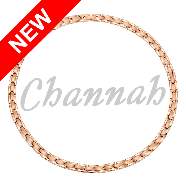 Channah Bio Healing Rose Gold Women Magnet 316L Stainless Steel Necklace Lady Chain Magnetic Jewelry Choker Free Shipping Charm