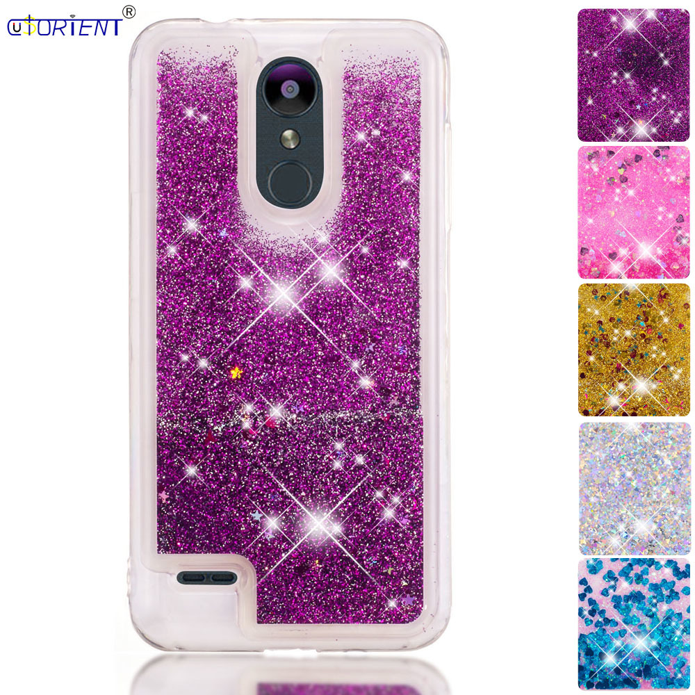 Half-wrapped Case Audacious Cute Bling Case Lg K9 Glitter Dynamic Liquid Quicksand Bumper Cover Lmx210nmw Lgk9 Soft Silicone Back Cases Lg K 9 Phone Funda To Suit The PeopleS Convenience Cellphones & Telecommunications