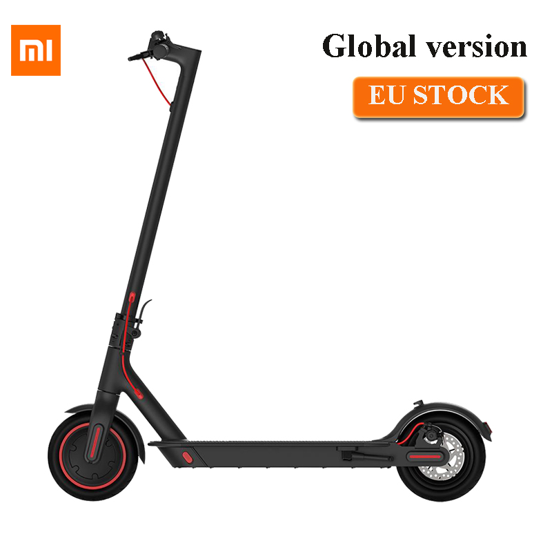 EU stock Global verision Xiaomi Mijia Folding Electric Scooter Pro 300W Motor max load 100kg 8.5 Inch Tire 45KM Mileage Range
