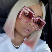 Luxury Cat Eye Sunglasses Women Italy Brand Designer Diamond Sun glasses Ladies Vintage Oversized Shades Female Goggle Eyewear