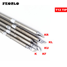 FEORLO soldering tips T12 T12-K KF KR KU KL for HAKKO Solder Iron Tips FX951 STC STM32 OLED Soldering Station shape k series t12 kf t12 k t12 kr t12 ku t12 iron tip for fx951 stc and stm32 oled soldering