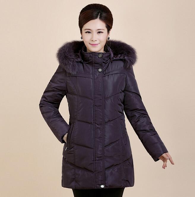 ФОТО 4XL Plus Size Winter Coat Women 2015 Middle Age Women Thicken Wadded Parkas Fashion Ladies Winter Slim Long Down Jacket H5502